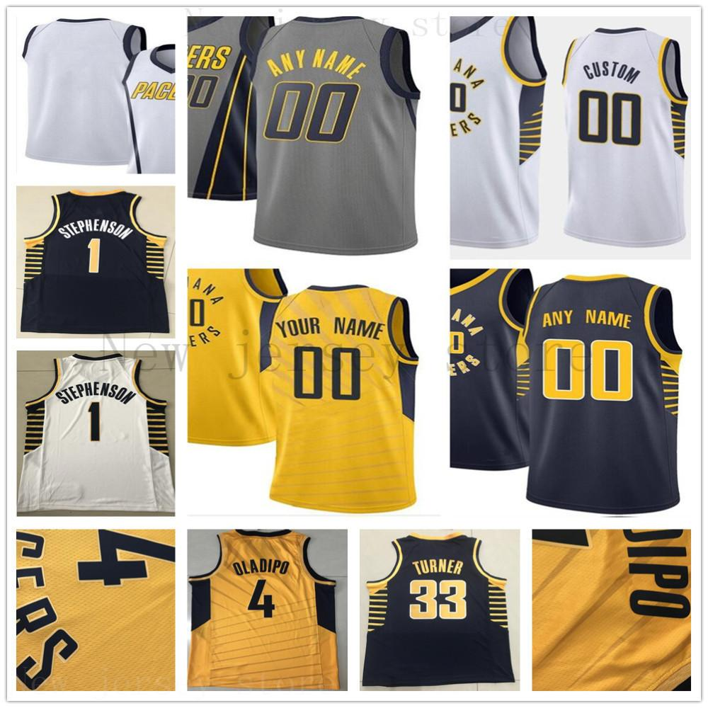 purchase cheap 11571 0a172 Custom Printed Indiana 24 Alize Johnson 23 Wesley Matthews 5 Edmond Sumner  32 Davon Reed 44 Bojan Bogdanovic Pacers Jerseys
