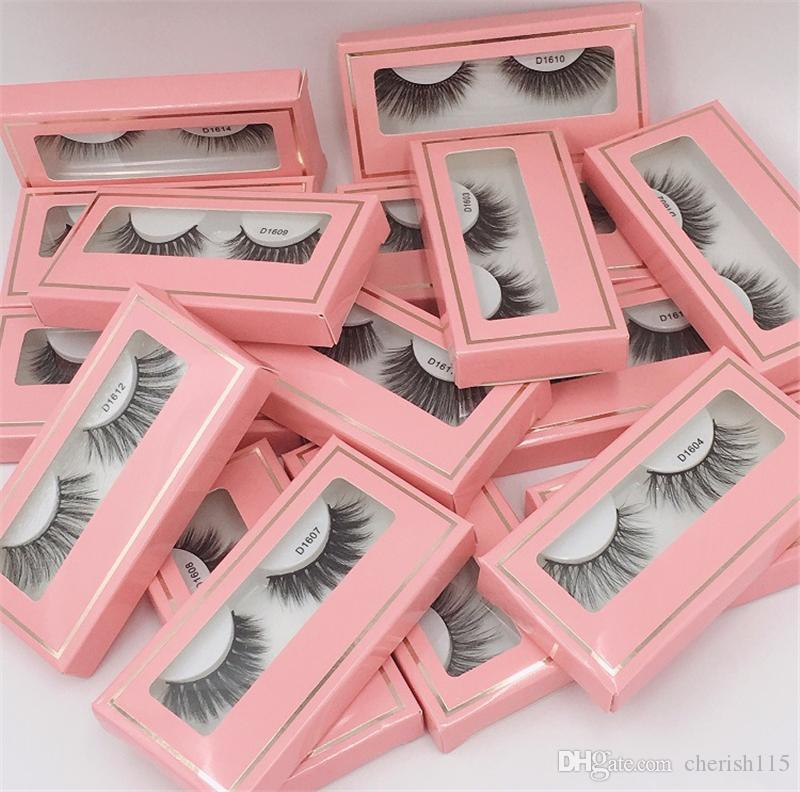 Pink Paper Box 3D Lashes Dramatic Vegan Lashes Makeup False EyeLashes Lash Extensions 3D Synthetic Lashes