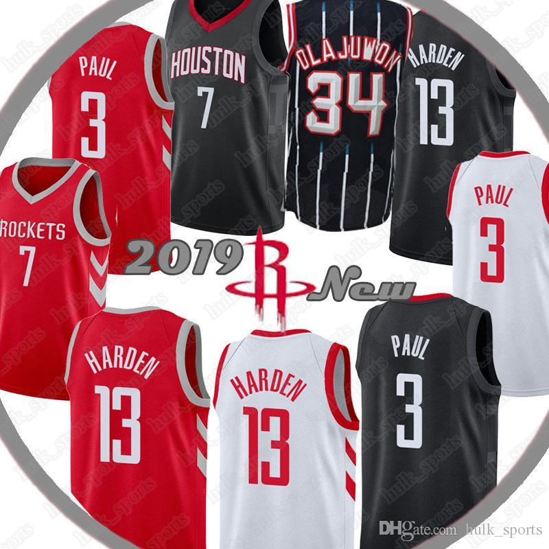 494a6ea6884 Houston James 13 Harden Jersey Rockets Hakeem 34 Olajuwon Jerseys Carmelo 7  Anthony Chris 3 Paul Jerseys Basketball Jerseys James 13 Harden Jersey  Rockets ...