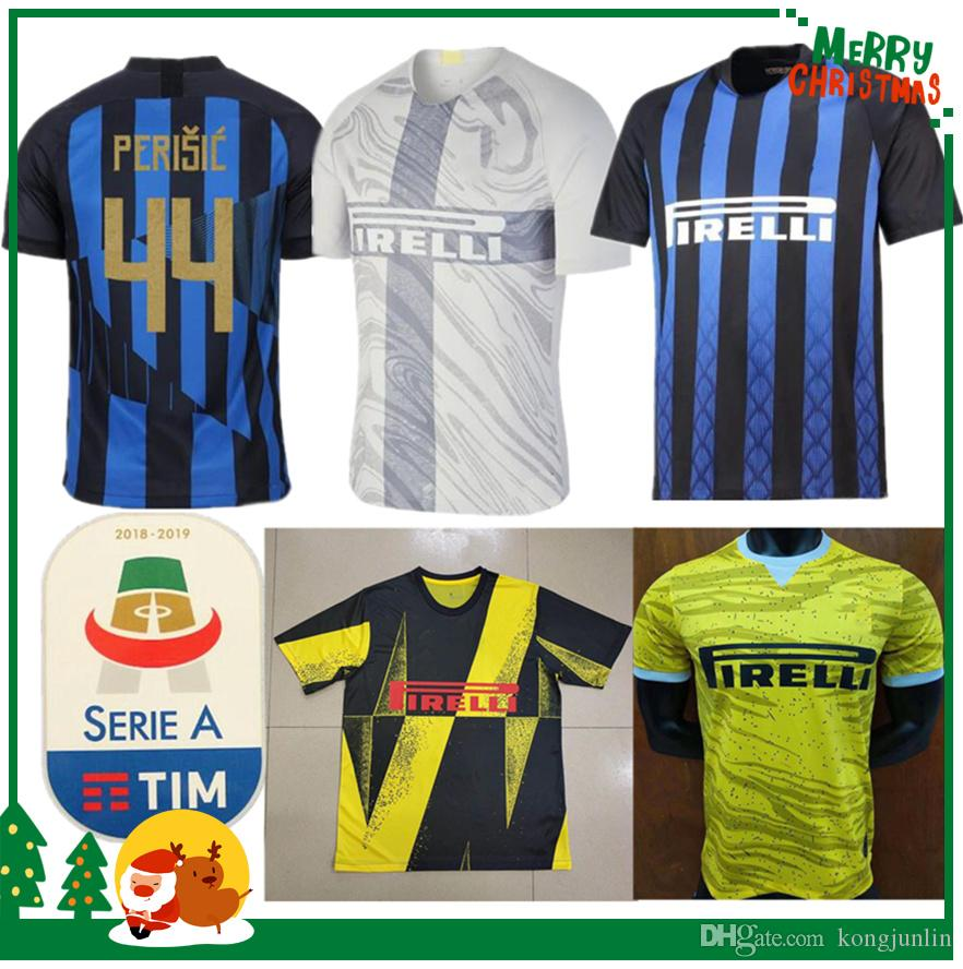 da02b25b1 2019 20 Anniversary Inter Jersey CANDREVA EDER ICARDI JOVETIC Milan Home  Away Kondogbia Jovetic 2019 Icardi Sports 18 19 Inter Shirts From  Kongjunlin