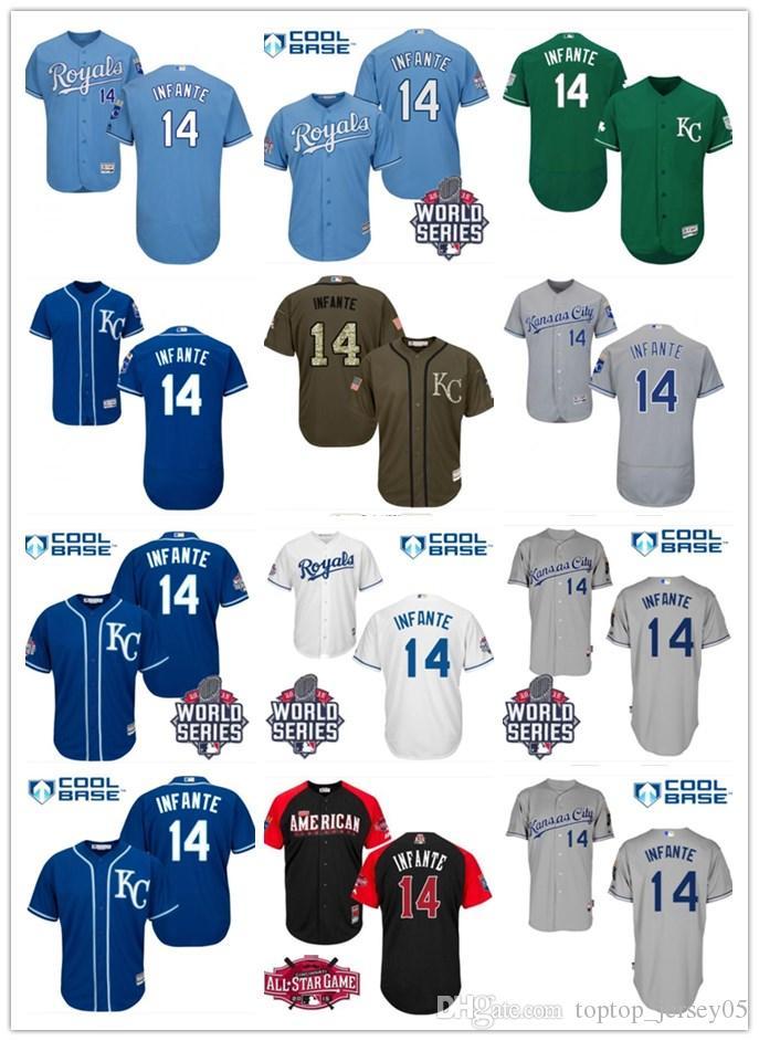 the best attitude a0c7f ee86a 2018 Kansas City Royals Jerseys #14 Omar Infante Jerseys  men#WOMEN#YOUTH#Men s Baseball Jersey Majestic Stitched Professional  sportswear
