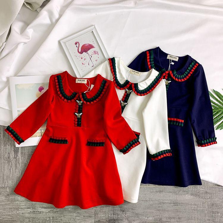 940572b006b8e Fishtail dress edge pattern design pastoral Girl Autumn Princess Western  Style Will Gules Children Skirt Children s baby