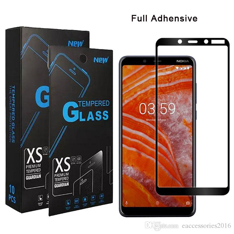 Tempered Glass For Alcatel onyx 1x 2019 Tetra Cricket LG x Charge Fortune 2  Nokia 3 1 Plus Full Cover Screen Protector