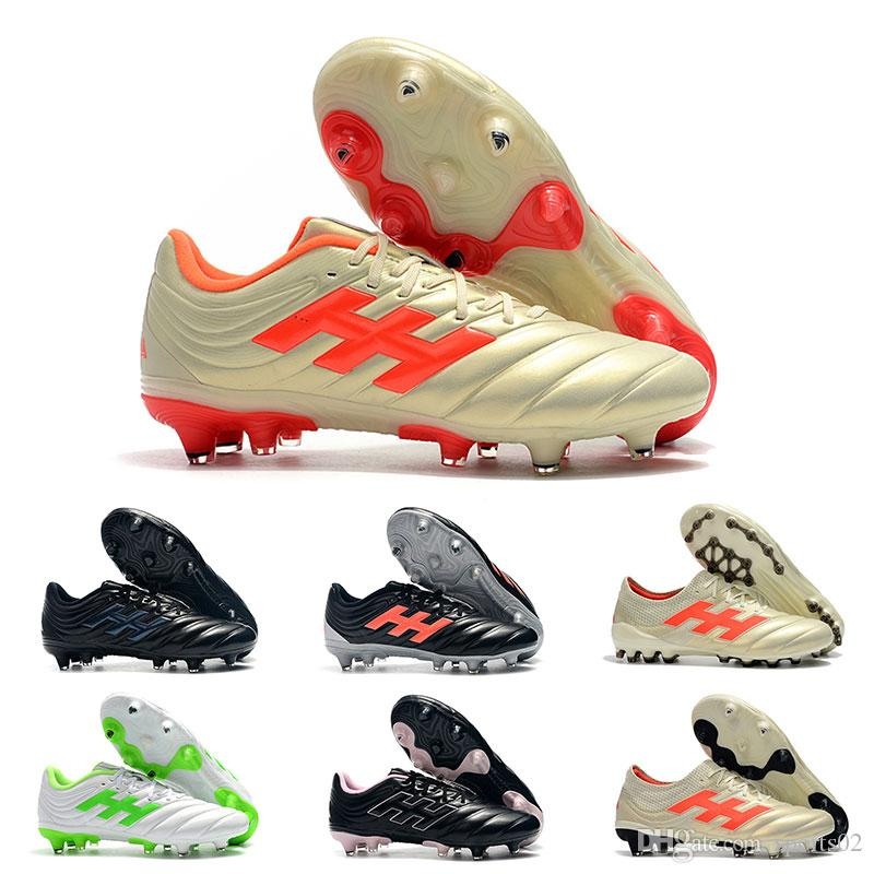 0f283c89fda Discount Mens Soccer Cleats Wholesale Copa 19.1 FG Black White Golden  Football Shoes Outdoor 18.1 AG Soccer Boots Big Order Droppshipping Copa  19.1 Soccer ...