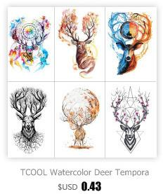 TCOOL Octopus Temporary Tattoo Sticker for Waterproof Men Fake Body Art Animal 9.8X6cm Fashion Women Hot Design Sticker A-028