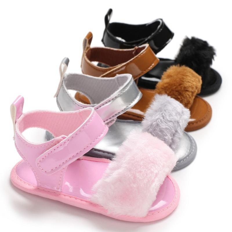 bf28bc7eb Baby Sandals Fur Cute Infant Girls Sandal Baby Shoes Children Sandal Summer  Toddler Princess Non Slip Crib Shoes For Girl Kids Shoes Sale Sneakers For  Kids ...