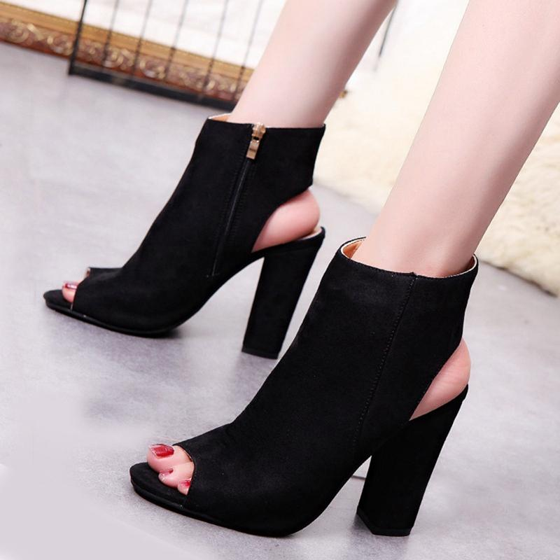 cb3833b85fd Fancy Black Line Buckle Style Block Heels Dress Sandals Fashion Open Toe Chunky  Heel Platform Sandals Women Fashion Dress Shoes Sandals For Girls Chaco ...