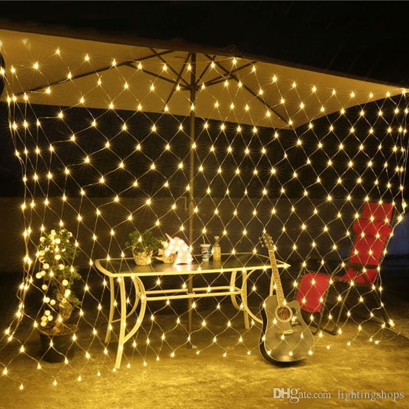 bd37ed8f78b Compre Luces Netas De Led 1.5   1.5 M 8 Modos 220 V Decoración De Boda Hada  De Navidad Cadena De Luz Año Nuevo Iluminación De Vacaciones De Jardín Al  Aire ...
