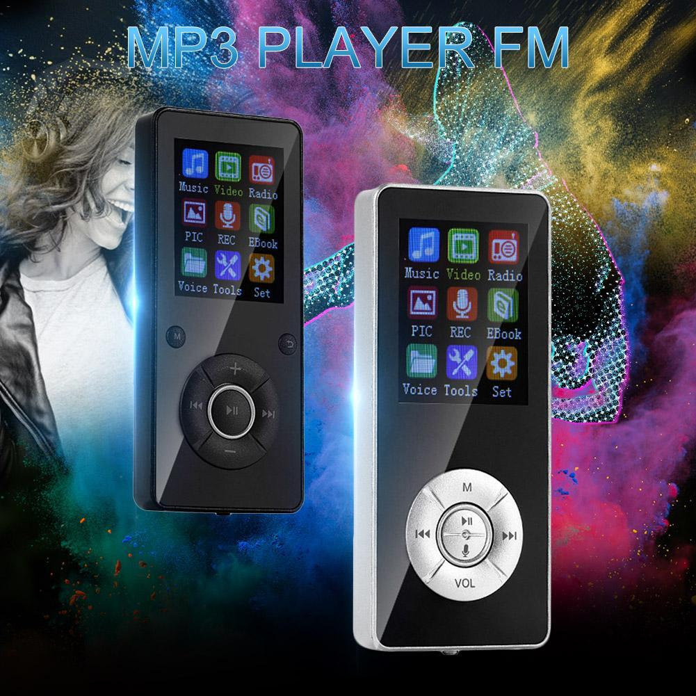 Estudiante Bluetooth MP3 Player con TF / FM MP4 mini deportes de Bluetooth del reproductor de música Walkman con altavoz incorporado FM Radio Recorder