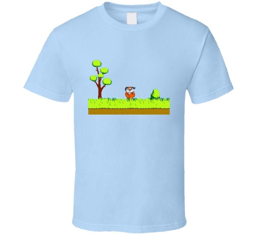 2a6450e40a Duck Hunt Video Game Retro Old School Funny T shirt Men Women Unisex  Fashion tshirt Free Shipping WHITE