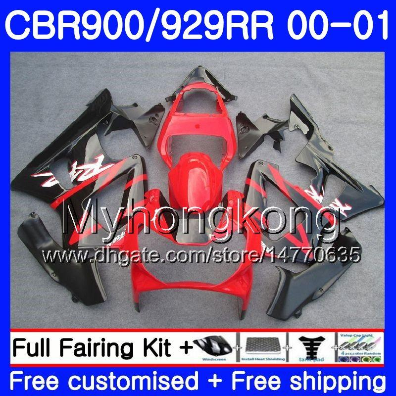 Body Factory red frame For HONDA CBR900 RR CBR 929 RR CBR 900RR CBR929RR 00 01 279HM.19 CBR 929RR CBR900RR CBR929 RR 2000 2001 Fairings kit