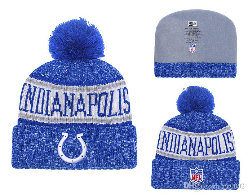 online store 68eca 36a4a 2019 Men S Indianapolis Colts New Royal 2018 Black White Sideline Cold  Weather Official Sport Knit Hat From Yaolipeng2,  7.04   DHgate.Com