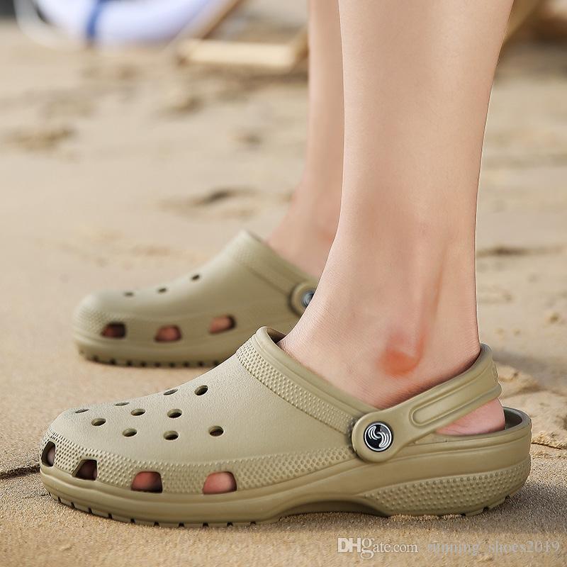 aa64767ce Weweya Hollow Men Beach Sandals Summer Slippers Unisex Shoes Croc ...