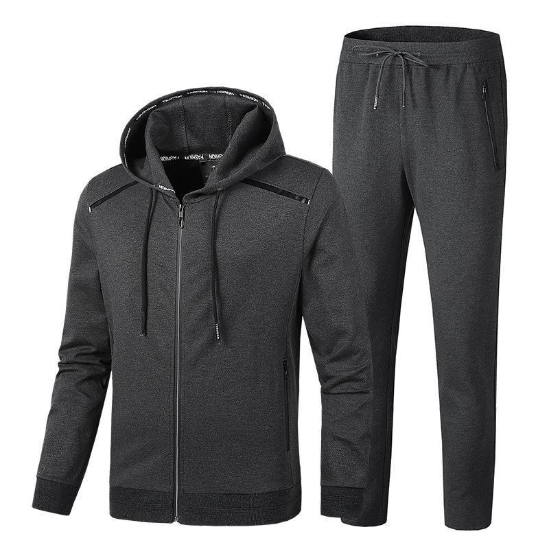 Frühling und Herbst männer Mit Kapuze Jacke Mode Anzug Männer Extra Große L 5XL 6XL 7XL 8XL 9XL Sportswear Casual Set Rot Blau Schwarz