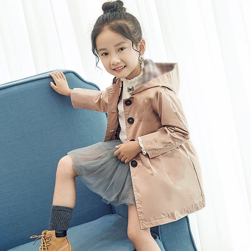 a40a038d0fd2 Baby Girls Korean Style Windbreakers Trench Coat Kids Overcoat ...