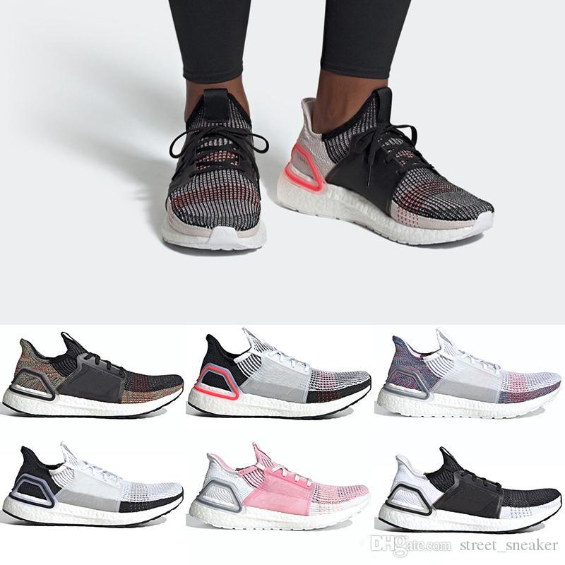 766ec85d1ddb1 2019 2019 Ultra Boost 19 Men Women Running Shoes Ultraboost 5.0 Laser Red  Dark Pixel Core Black Ultraboosts Trainer Sport Sneaker Size 36 47 From ...