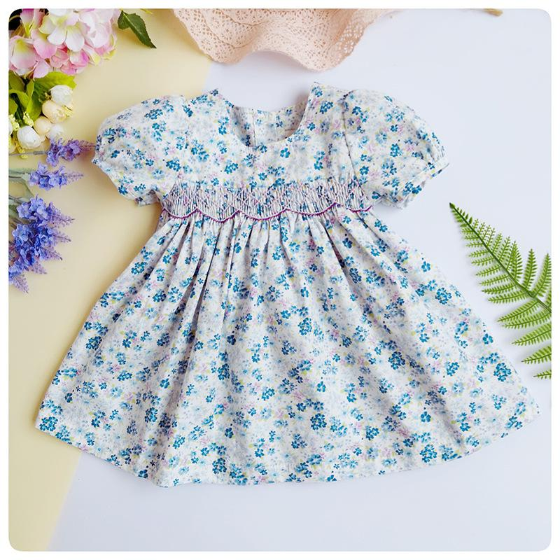 595cf2993 2019 Infant Formal Summer Smocked Dresses Kids Baby Girl Bow Floral  Princess Clothes For Girls 6 12months Doll Clothing From Paradise02, $23.98  | DHgate.Com