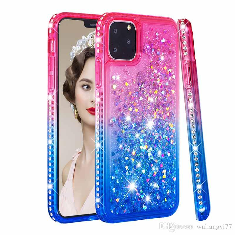 Bling Dynamic Quicksand Case For iPhone 11 Pro Max Liquid Glitter Diamond Soft Phone Case for iphone Max X XR XS 7 8 plus