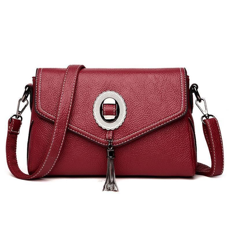 High Quality Leather New Nice Women Handbags Fashion Tassel Womens  Messenger Bag Women s Shoulder Bags Tassel Bag Crossbody Bags Laptop Messenger  Bags ... 5163393e79807