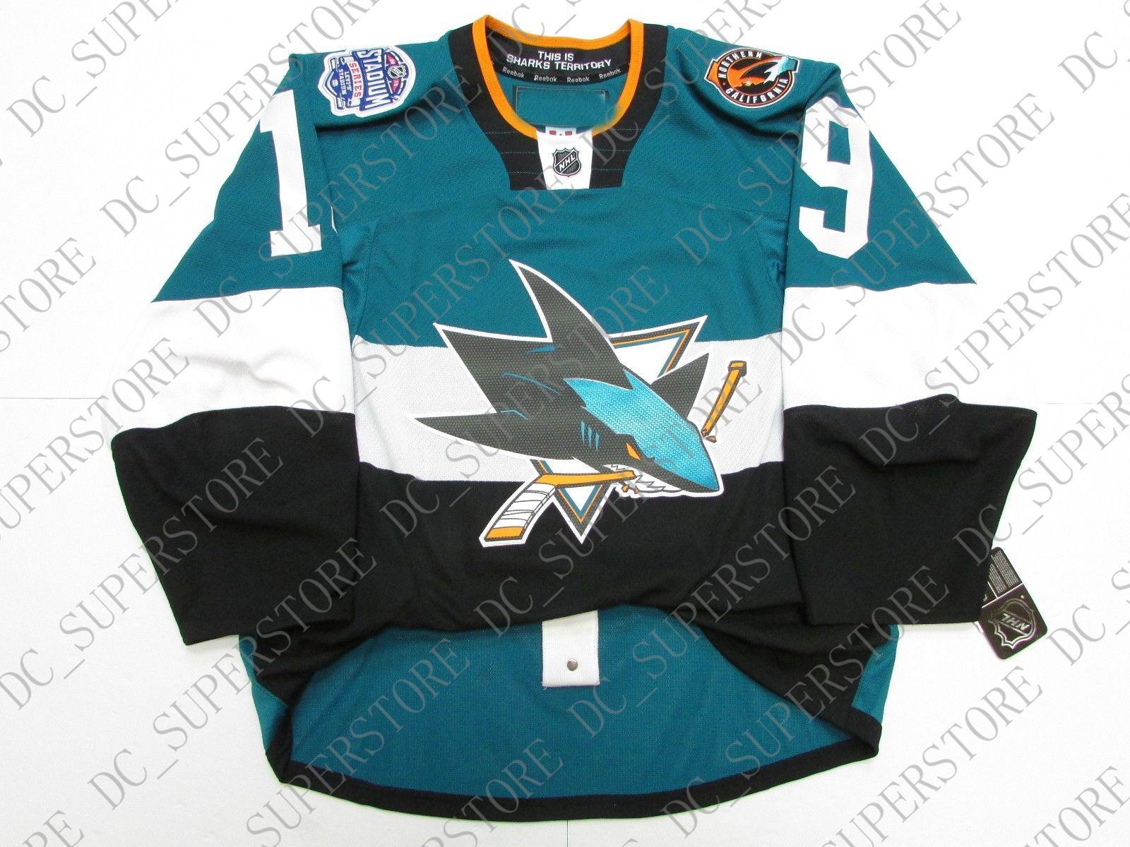 wholesale dealer 75285 57060 Cheap custom JOE THORNTON SAN JOSE SHARKS 2015 STADIUM SERIES JERSEY stitch  add any number any name Mens Hockey Jersey XS-5XL