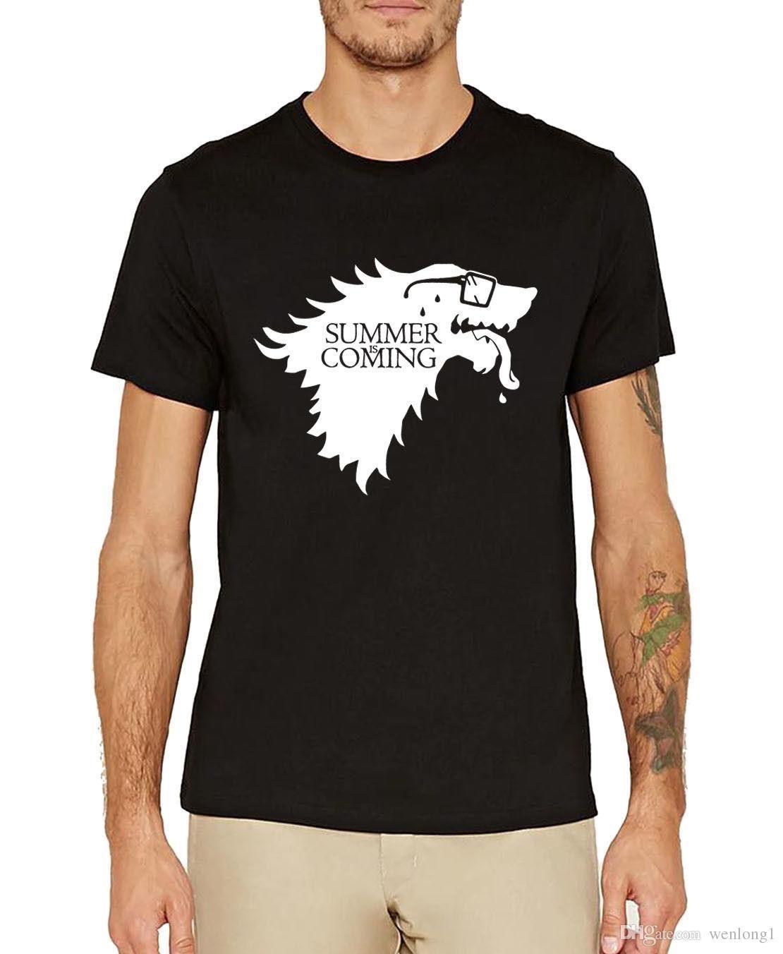 6512302a4 Funny Summer Is Coming T Shirt Men Game Of Thrones Fans Hilarious Stark Shirt  T Shirt Fashion Top Tee Harajuku Crazy T Shirt T Shir From Jie20, ...