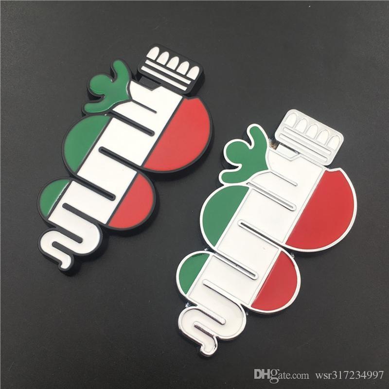 2020 3D Car Sticker Three Color Snake Logo For Alfa Romeo