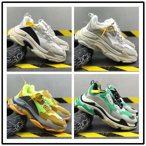 2019 Top quality! Mens and Womens Casual Shoes Triple S Clear Sole White Black Green Brand Designer Trainers 36-45 10