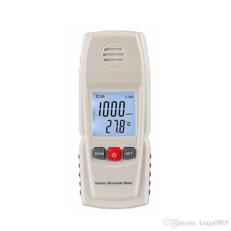Hot sale Portable Carbon Monoxide Detector High Precision Digital CO Gas Detector Analyzer Electrochemical CO Monitor 0~1000ppm free shippin