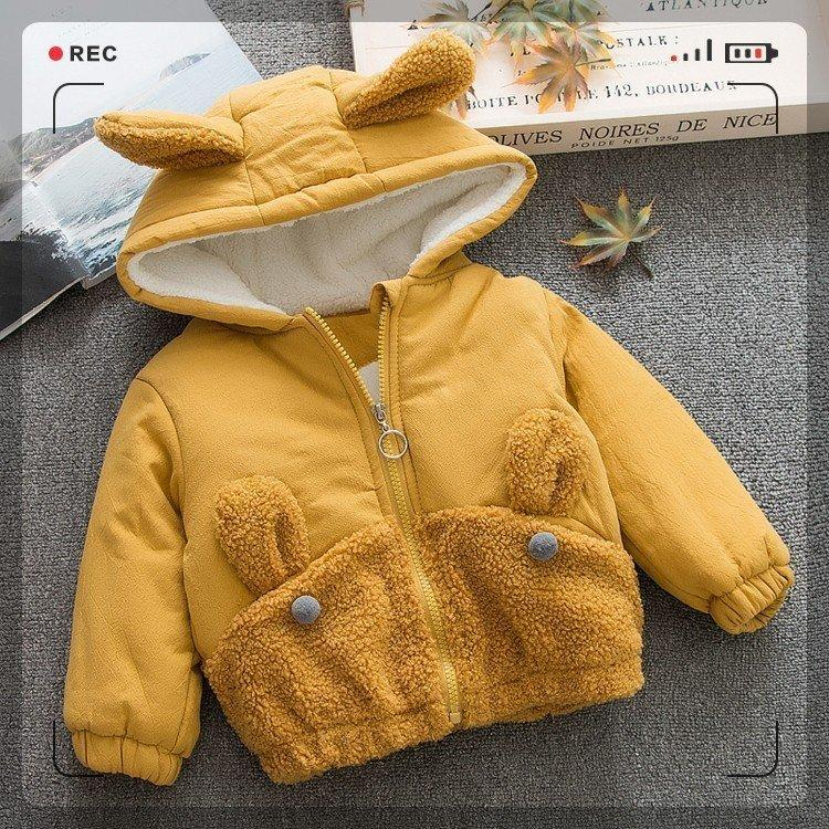 d14c3bd72b3d 2018 Fashion Hooded Baby Girl Coat Kids Winter Warm Clothes Cartoon Toddler  Baby Thicken Overcoat Children Warm Outerwear Childrens Puffer Jackets Kids  Warm ...