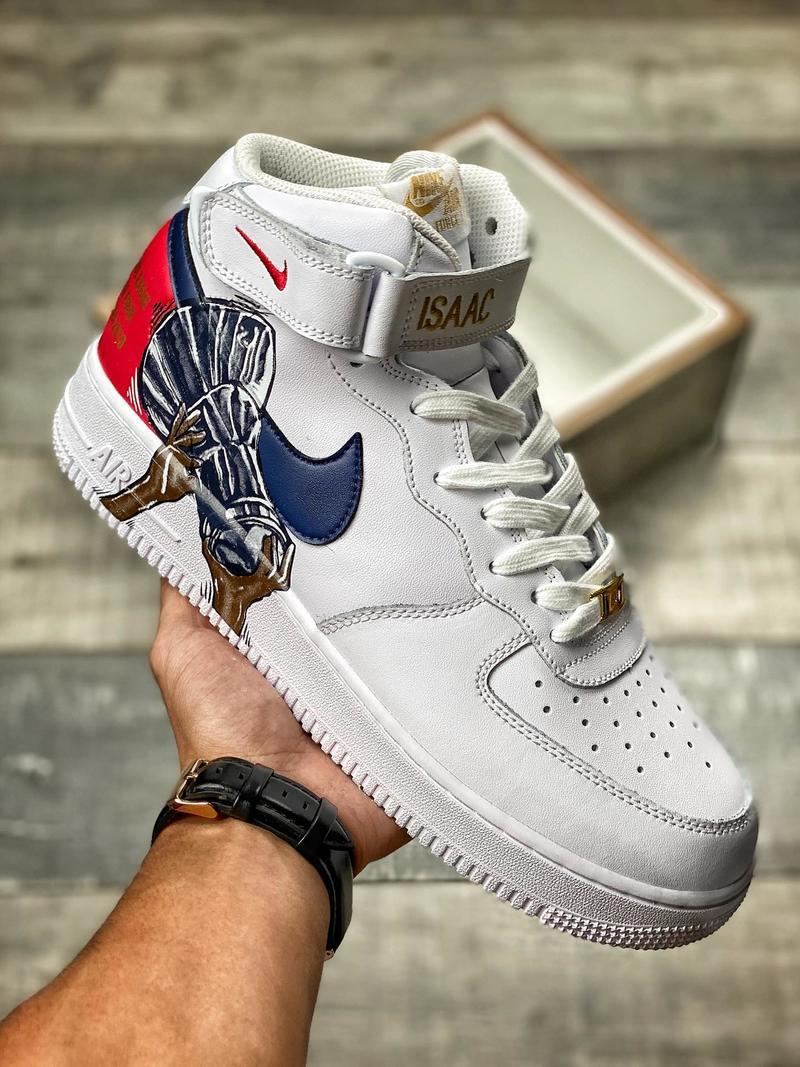 Air Force 1 Mid CSKA F4 melonkicks 596728-309 avec boîte AF1 AF Top qualité Hommes Hommes Chaussures Chaussures Designer Casual