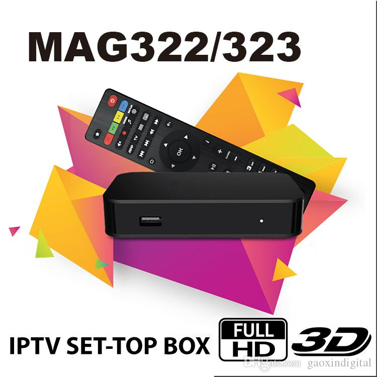 Original MAG 322 Digital IPTV Set Top Box Multimedia Player Internet IPTV  Receiver support HEVC H 256 with WiFi Lan HDMI TV Box