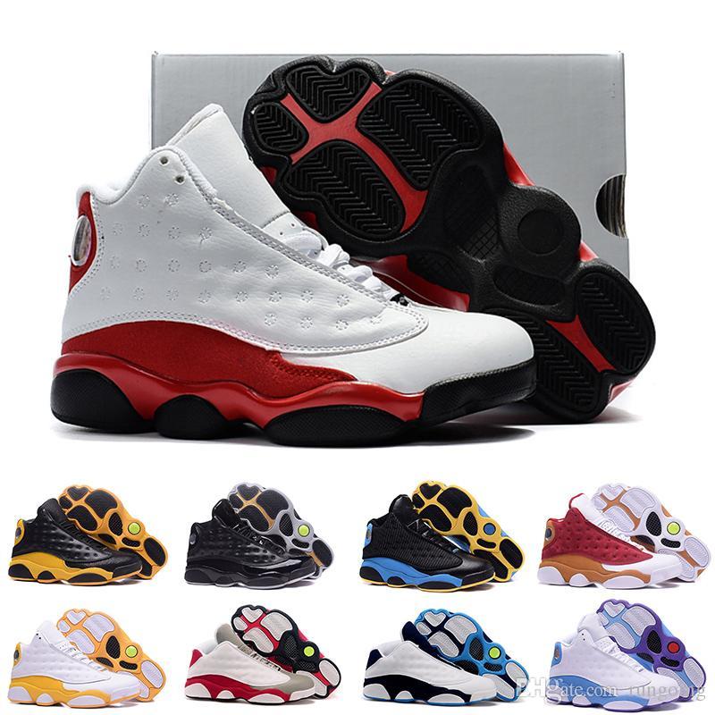 buy popular 66bc5 af9bf Compre Nike Air Jordan 13 Aj13 Retro Zapatos Rojos De Brujas Chicago Gatos  Baratos Lobo Gris Oliva Historia XIII Toros Oro Alta Calidad J13 Zapatos  Casuales ...