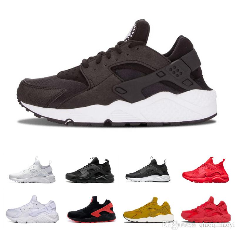 bc4f341ebccc Triple White Black Huarache 4.0 1.0 Running Shoes Classical Red Rose Gold Men  Women Huarache Shoes Huaraches Trainer Sports Sneakers 36 45 Flat Shoes  Yellow ...
