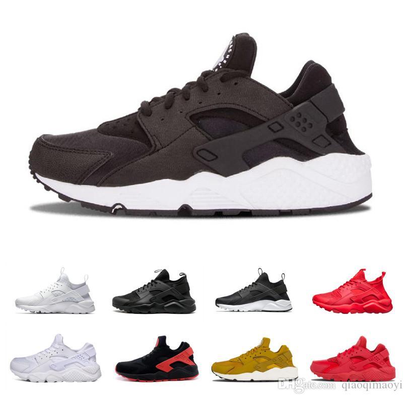 innovative design 3fe8e 0ed7f Acquista Triple White Black Huarache 4.0 1.0 Scarpe Da Corsa Classico Rosso  Oro Rosa Uomo Donna Huarache Scarpe Huaraches Trainer Sportivo Sneakers 36  45 A ...