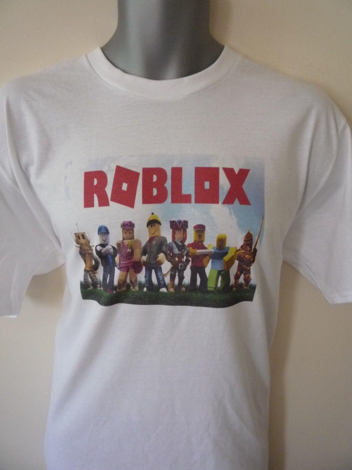 Roblox Character Design T Shirt Gaming Gamer Xbox Boys Girls Adult