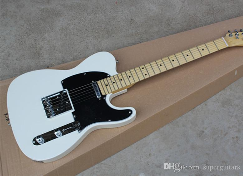 2019 New Arrival White Custom Shop Maple Fingerboard Basswood Body Electric Guitar Chrome Hardwar