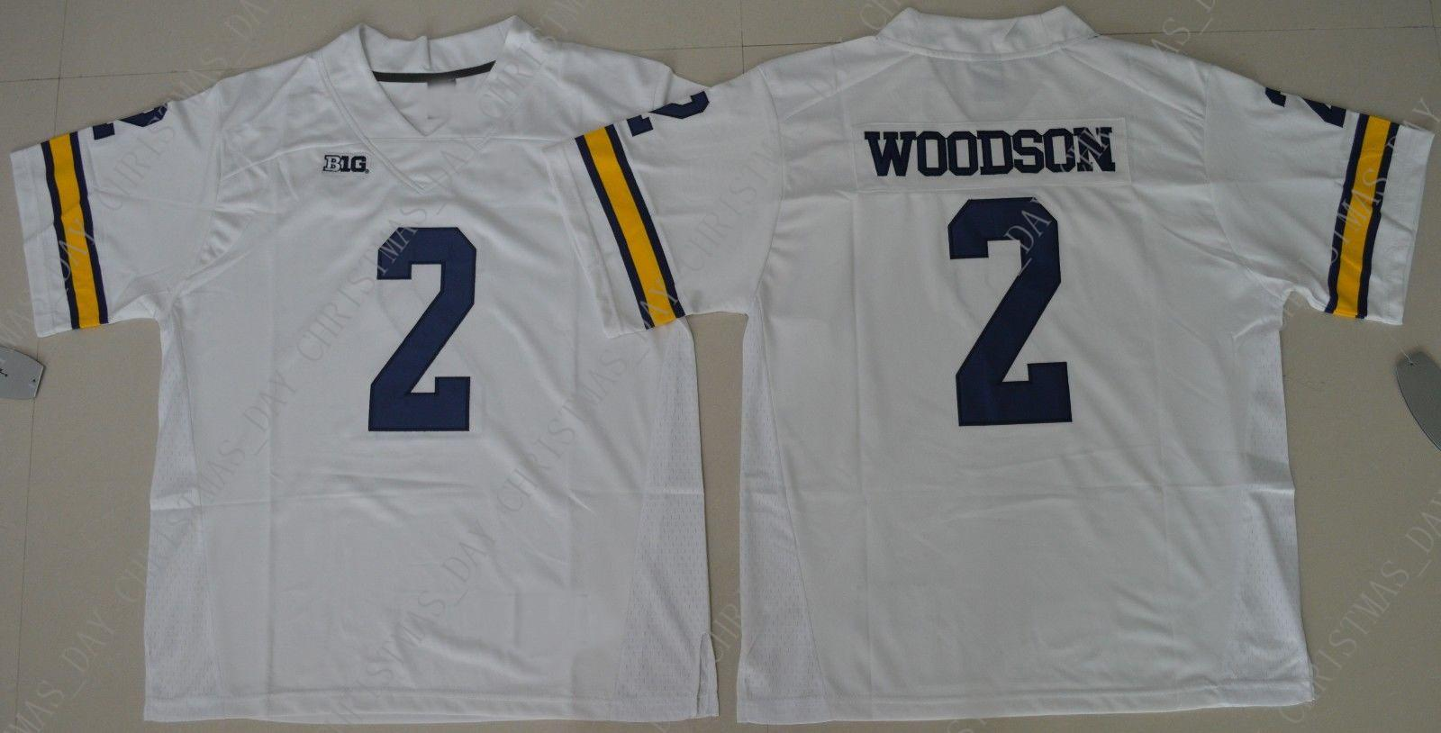 best service cde66 7d7f5 Cheap custom Michigan Wolverines Charles Woodson #2 College Football Jersey  White Stitched Customize any number name MEN WOMEN YOUTH XS-5XL