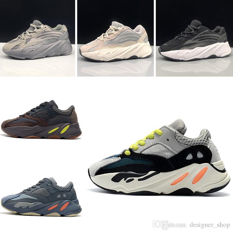 Adidas yeezy 700 boost v2 yeezys yezzy 2018 Nuevos zapatos para niños Wave Runner 700 Kanye West Zapatos para correr para niños Calzado deportivo