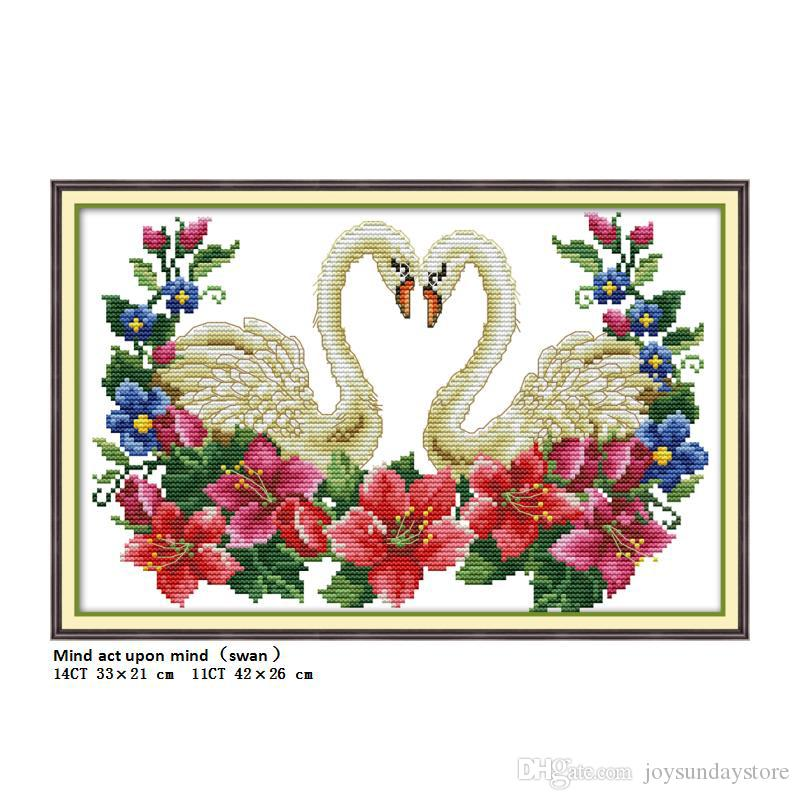 Cross-stitch Arts,crafts & Sewing Punctual The Long Beaked Bird Animals Painting Counted Print On Canvas Dmc 14ct 11ct Chinese Cross Stitch Needlework Sets Embroidery Kits