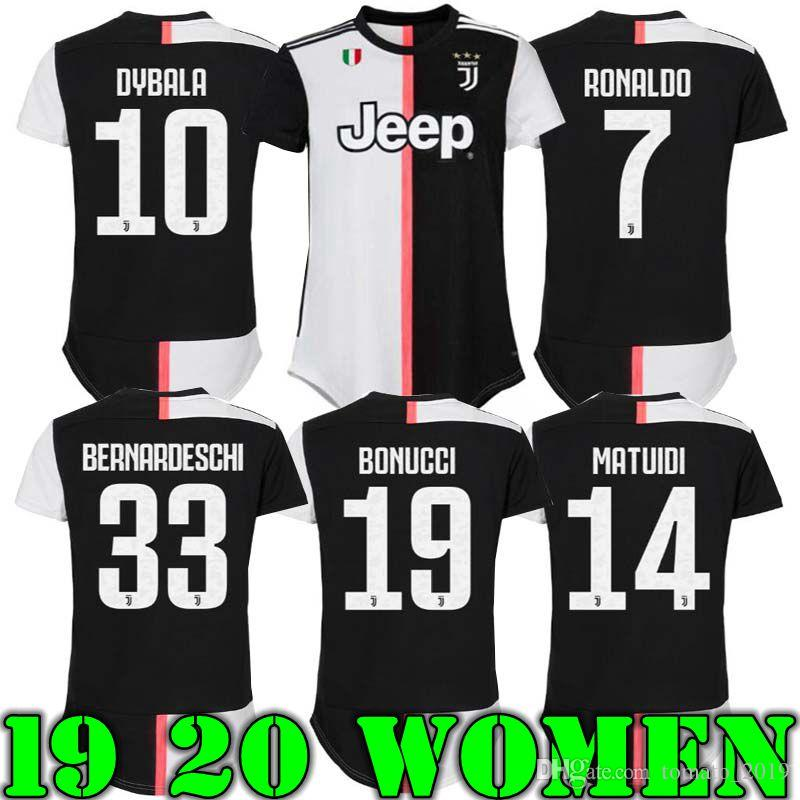 new products 402d7 f73ec 19 20 Juventus Women soccer Jerseys RONALDO DYBALA 10 BOUCCI GIRLD AWAY  2019 HOME LADY JERSEY FOOTBALL SHIRTS
