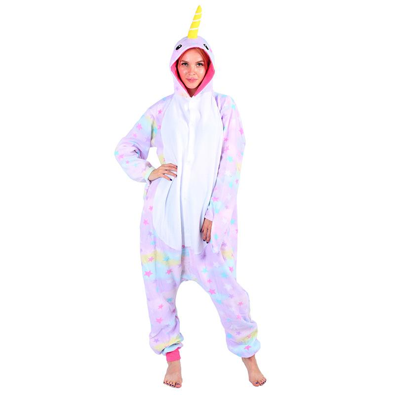 3e537db0e21c Adult Unisex Fleece Animal Star Narwhal Onesies Novelty Pajamas Pyjamas  Jumpsuit Nightwear Carnival Costumes For Women Men Cosplay Bleach Cosplay  Costumes ...