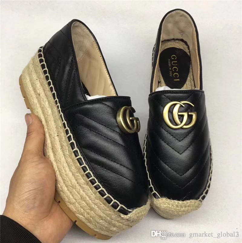 eb15951a0aad Hot Chevron Leather Espadrille Double Women S Fisherman S Shoes ...