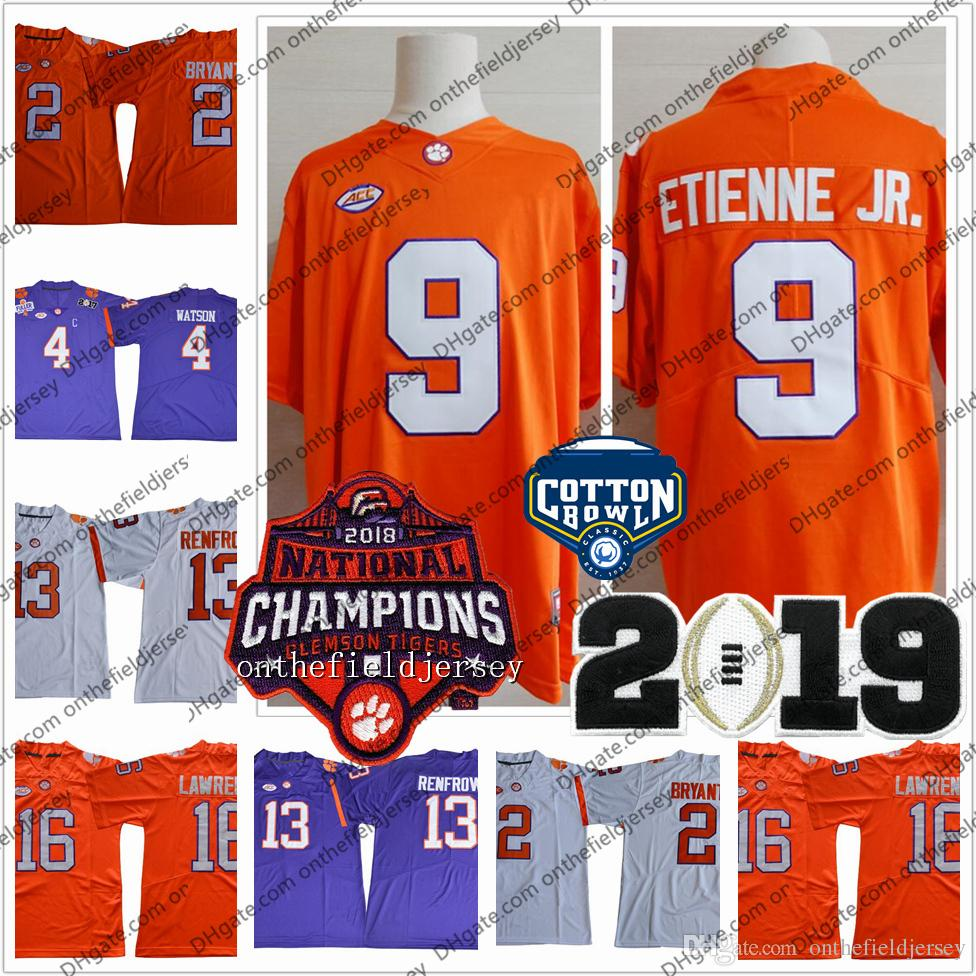 2019 Clemson Tigers 2018 National Champions 16 Trevor Lawrence 13 Hunter  Renfrow 9 Etienne Jr. 4 Watson 2 Kelly Bryant Cotton Bowl S 3XL From ... fc7ac3c23