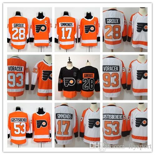 Philadelphia Flyers Jerseys Hockey 28 Claude Giroux Travis Konecny ... 26de4e8bc