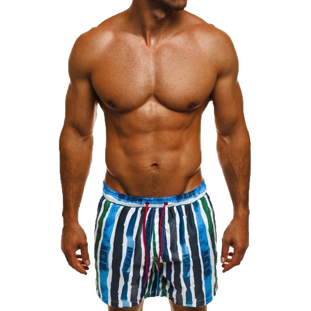 5b2ff3f80fe0 Traje de baño para hombres 2019 Verano para hombres Nuevo estilo Moda  Pantalones cortos impresos Hawaiian Swimming Trunks para hombre traje de  baño ...