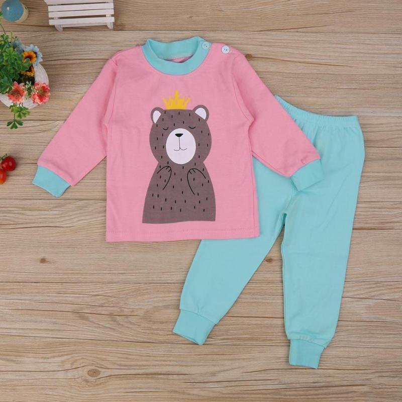64fce4556283 2019 3 6 Kids Baby Pajamas Set Boys Girls Clothes Set Spring Autumn ...