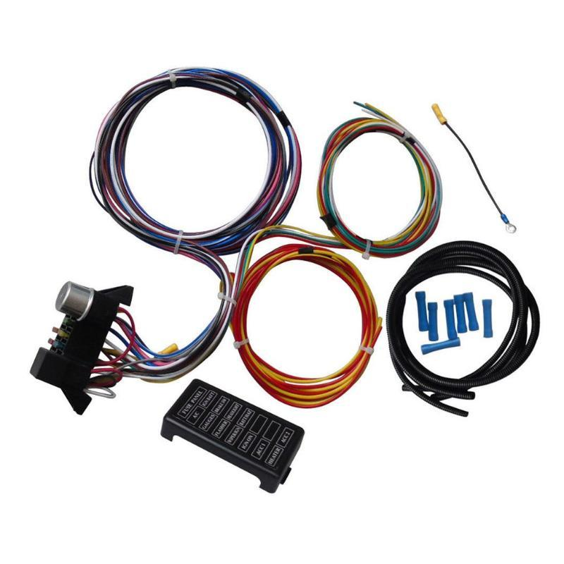 12 Circuit Universal cablagem para o músculo carro Hot Rod Rua Rod XL fios para SI-AT52001 Wires duráveis