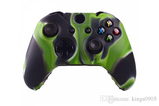 Case Silikon Cover Gel Rubber Schutz- Xbox One Controller © Haut Camo