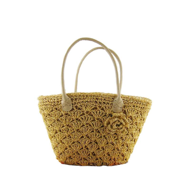 eacf67106944 New 2019 Designer Straw Tote Floral Shopping Bag Lady Handbags Women  Classical Beach Shoulder Bags For Female An445 Side Bags Handbag Brands  From Starfive04 ...
