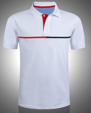07e316a6 US Brand Men Classic Polo Shirts Middle Striped Sport Polos Short ...